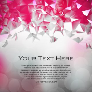 Free Pink and Grey Low Poly Background Template Graphic