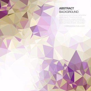 Free Purple and Gold Polygonal Background Template Design