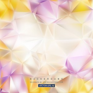 Free Purple and Yellow Polygon Triangle Background Image