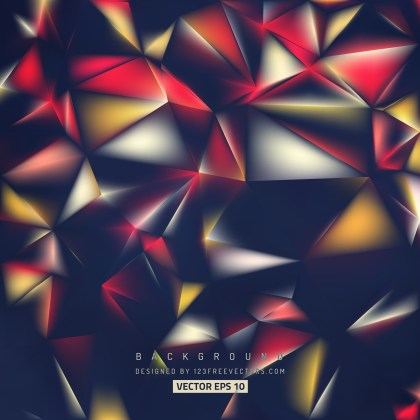 Free Black Red and Orange Geometric Polygon Background Illustrator