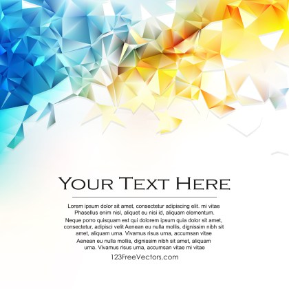 Free Abstract Blue Orange and White Polygon Background Vector
