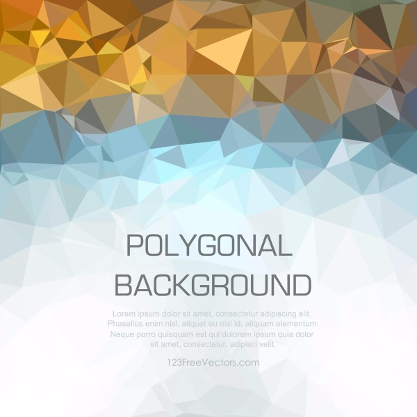 Free Abstract Blue Orange and White Polygon Pattern Background Vector
