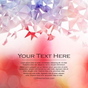 Free Abstract Red White and Blue Polygon Background Template Vector