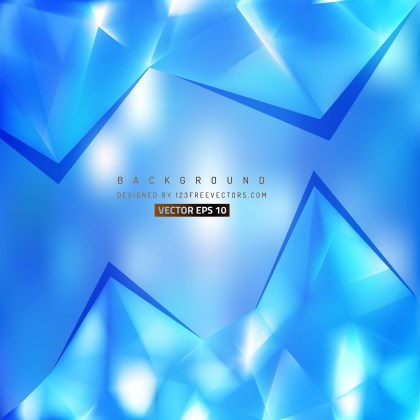 Free Bright Blue Triangle Background Graphic