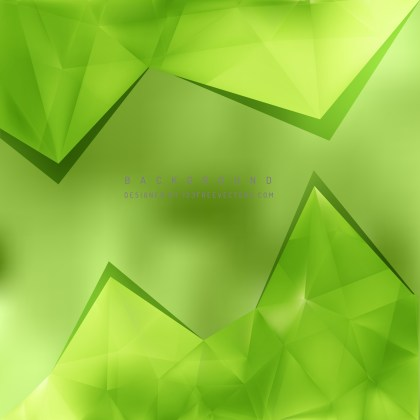 Free Green Triangle Background Vector