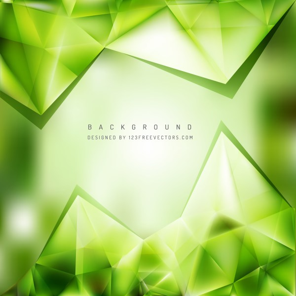 Free Green Triangle Background Pattern Vector Art