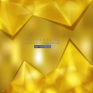 Free Gold Triangle Background Pattern Vector Image