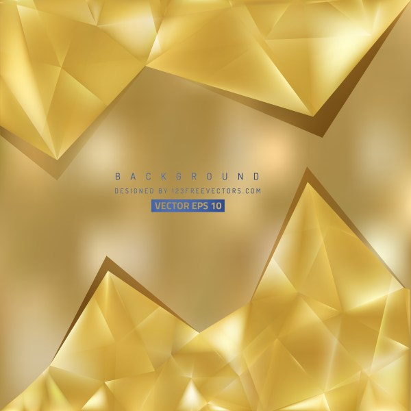 Free Gold Triangle Background Illustrator