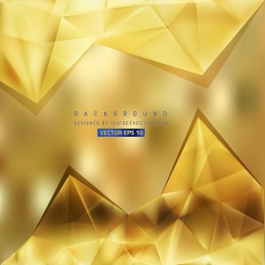 Free Gold Triangle Background Vector Art