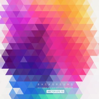Free Colorful Triangle Background Pattern Vector Graphic