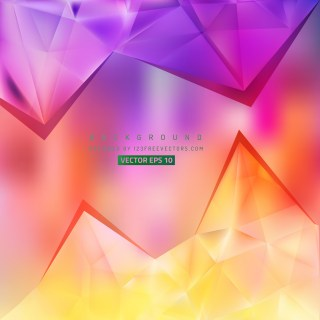 Free Colorful Triangle Background Vector Image