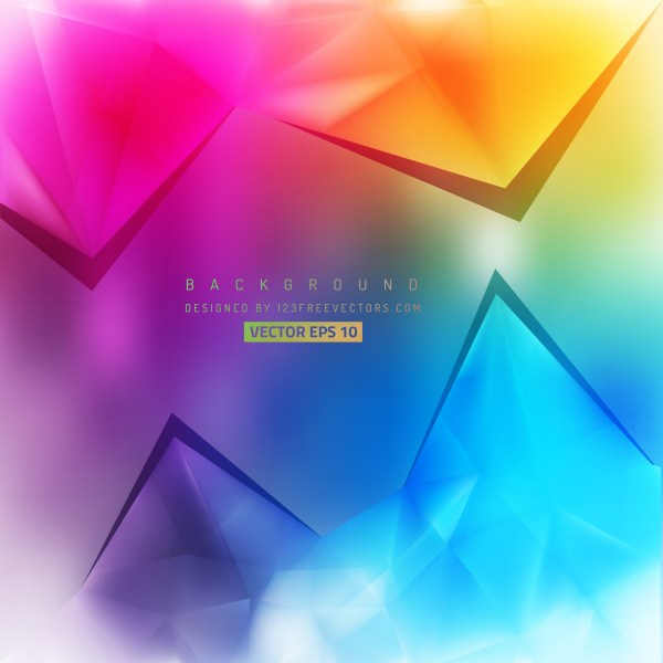 Free Colorful Triangle Background Pattern Illustrator