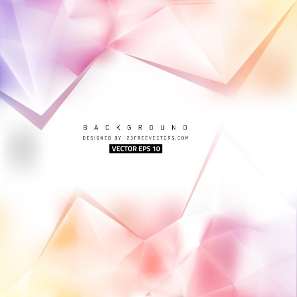 Free Light Color Triangle Background Pattern Vector Image
