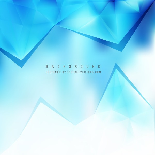 Free Blue and White Triangle Background Image