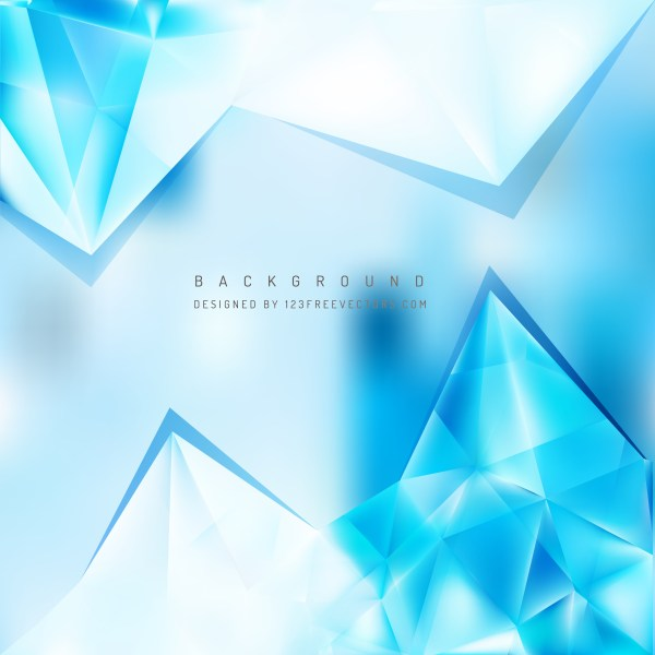 Free Blue and White Triangle Background Vector
