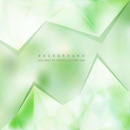 Free Green and White Triangle Background Pattern Image