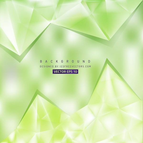 Free Green and White Triangle Background Vector Graphic