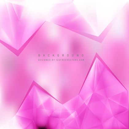 Free Pink and White Triangle Background Pattern Vector Graphic