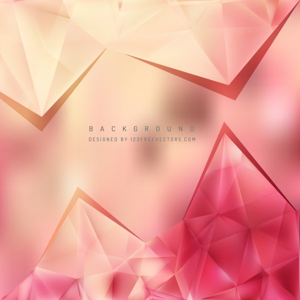 Free Pink and Beige Triangle Background Pattern Vector Graphic
