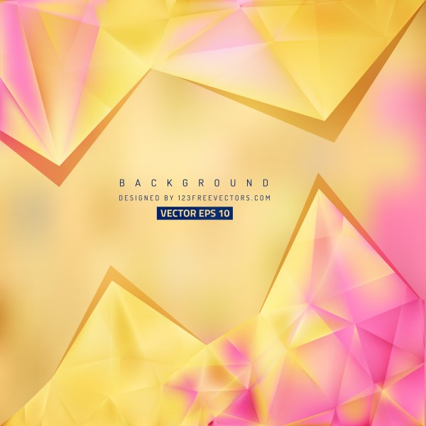 Free Pink and Yellow Triangle Background Pattern Illustrator