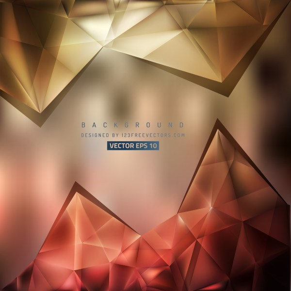 Free Red and Brown Triangle Background Graphic