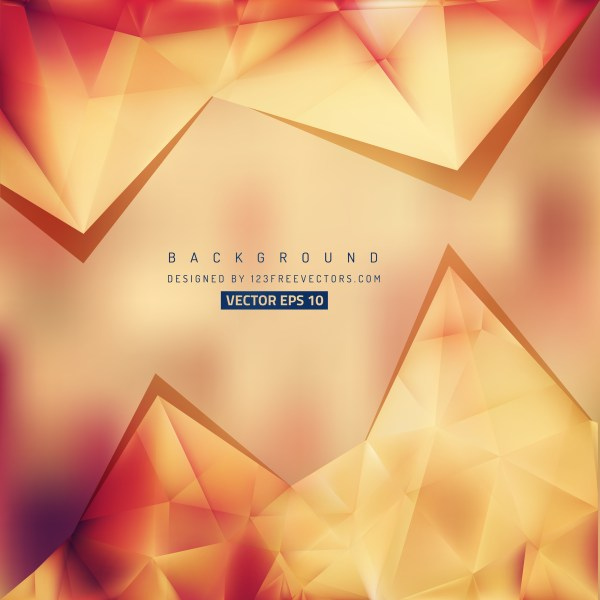 Free Red and Orange Triangle Background Vector Graphic