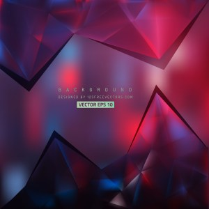 Free Black Red and Blue Triangle Background Vector Art