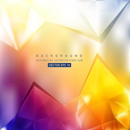 Free Blue Orange and White Triangle Background Image