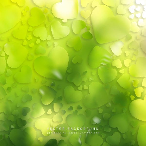 Free Green Heart Background Vector