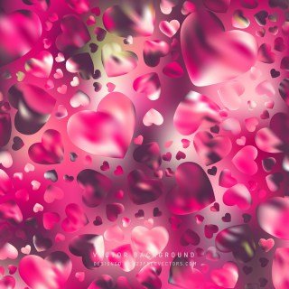 Free Pink Heart Background Vector
