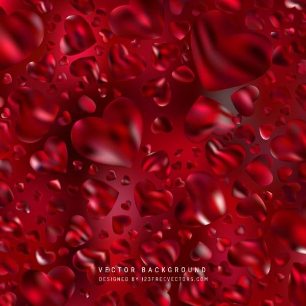 Free Dark Red Heart Background Vector