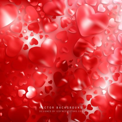 Free Red Heart Wallpaper Background Image