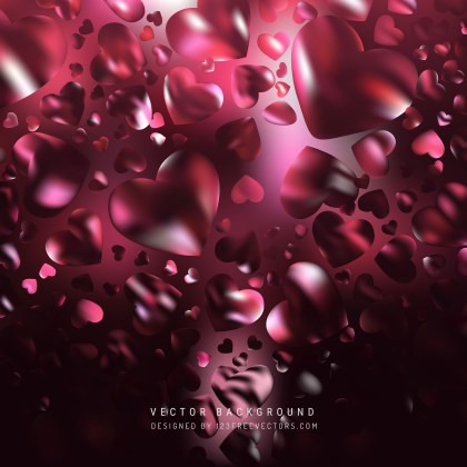 Free Cool Pink Heart Background Vector