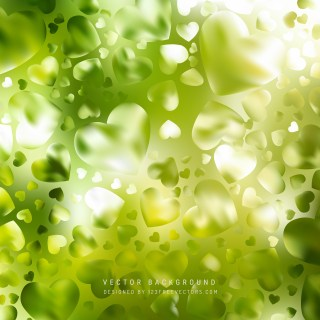Free Green and White Heart Wallpaper Background Image