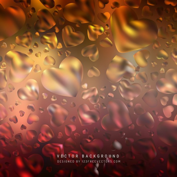 Free Black Red and Orange Heart Wallpaper Background Image