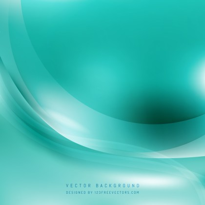 Free Turquoise Wave Background Template Image