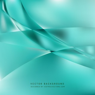 Free Abstract Turquoise Wave Background Illustrator