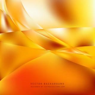 Free Orange Wave Background Vector