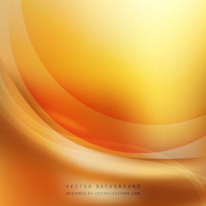 Free Orange Wave Background Template Image