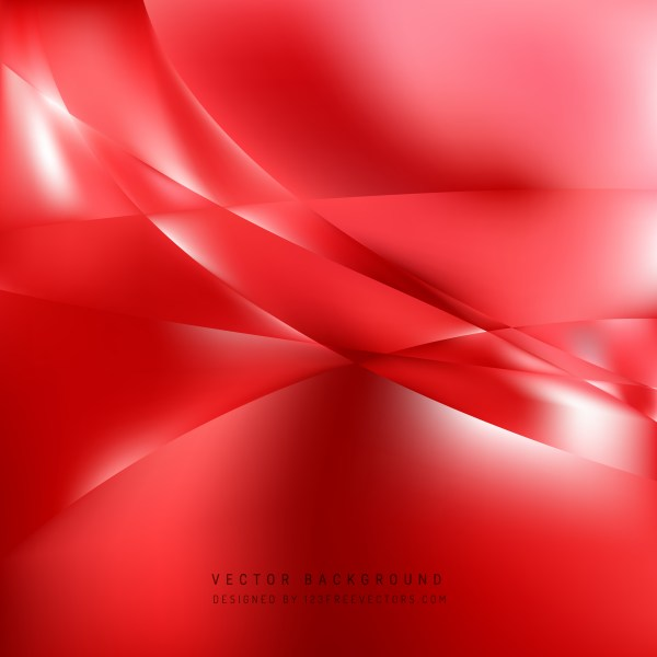 Free Abstract Red Wavy Background Vector