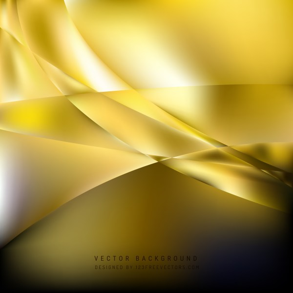 Free Cool Gold Wave Background Template Vector