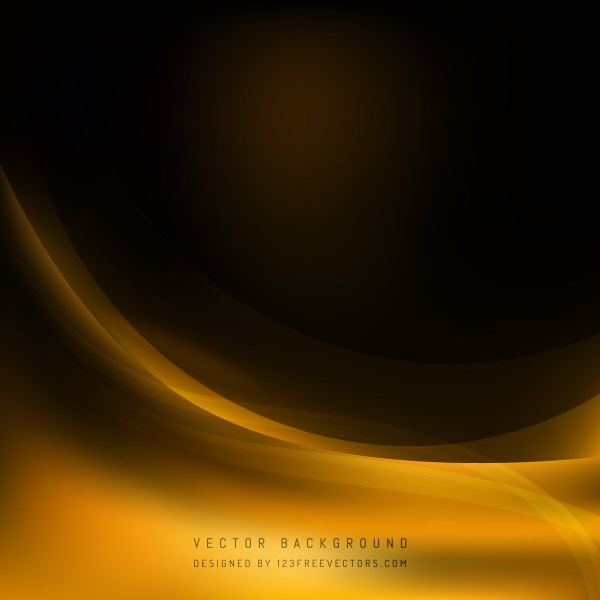 Free Abstract Orange and Black Wave Background Template Illustrator