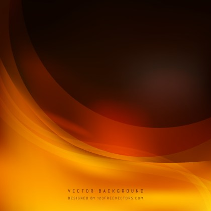 Free Orange and Black Wave Background Vector