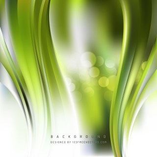Free Green and White Vertical Wave Background Template Graphic