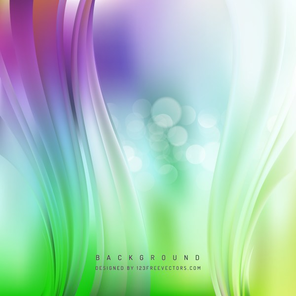 Free Abstract Purple and Green Vertical Wave Background Template Vector
