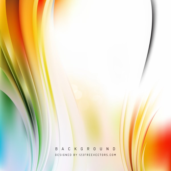 Free Abstract Orange White and Green Vertical Wave Background Image
