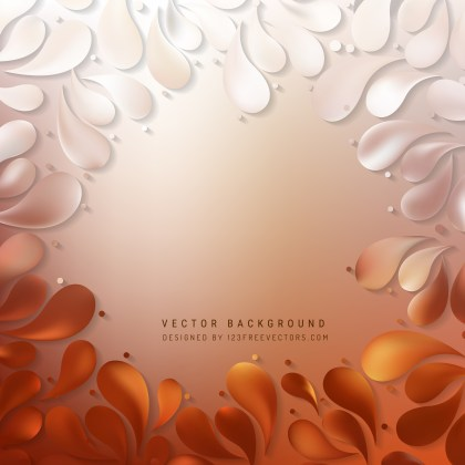 Free Orange and White Arc-Drop Background Illustrator