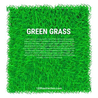 Free Green Grass Banner Background Vector