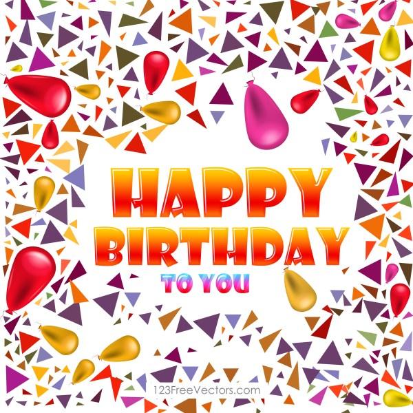 Free Happy Birthday Background Vector