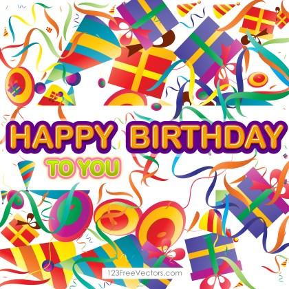 Free Happy Birthday Graphic Design Vector